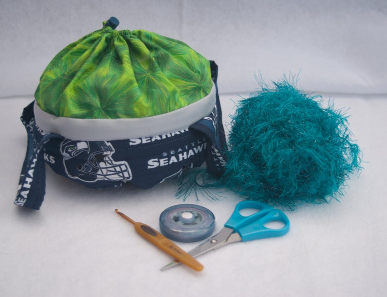 Seattle Seahawks Small Project Bag/Purse/Basket image 0