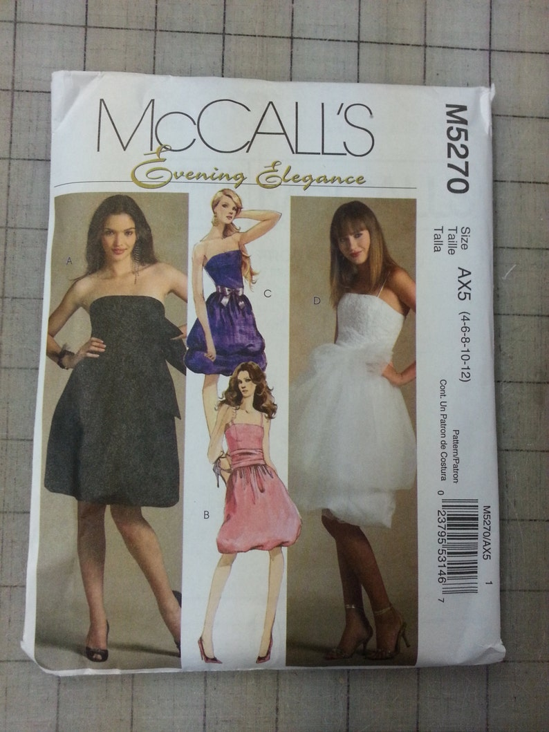 Unused McCall's Evening Elegance Formal/Prom Dress Pattern image 0
