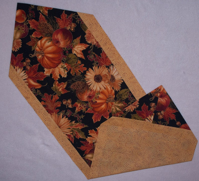 Harvest Table Runner  Triangle Ends image 0