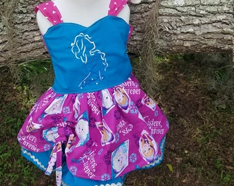 Ice Queen double layer dress