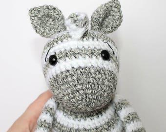 Crochet Zebra Pattern|Friendly Zebra| Crochet Zebra| Crochet Animal| Amigurumi Zebra| Crochet Doll Pattern|
