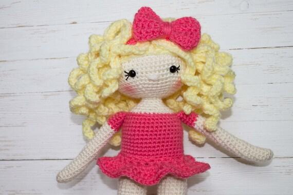 Crochet Doll Pattern Amigurumi Doll Pattern Dolly Crochet Girl Etsy Mesmerizing Amigurumi Doll Pattern