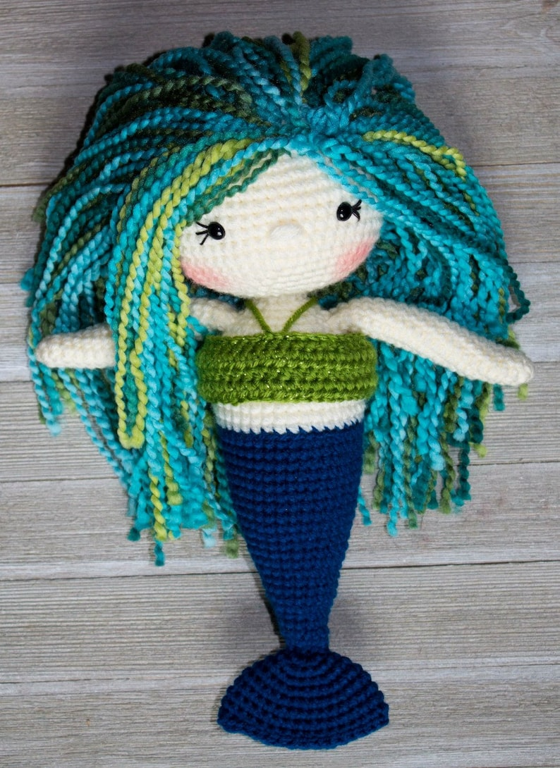Crochet Mermaid Pattern Mermaid Doll Crochet Doll Pattern Etsy