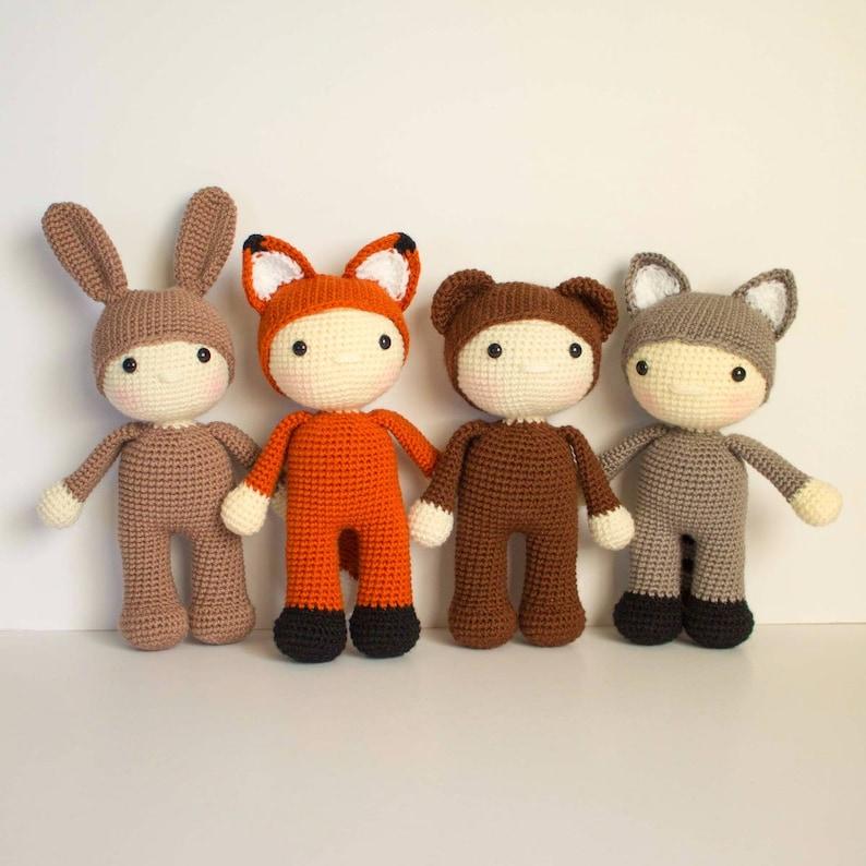 Forest Friends Crochet Woodland Animals Crochet Fox Crochet image 0