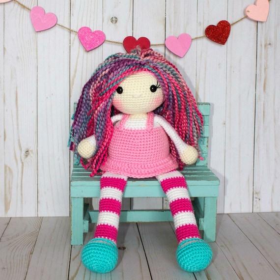 Ravelry: Daisy Spring Girl Amigurumi pattern by Carolina Guzman | 570x570