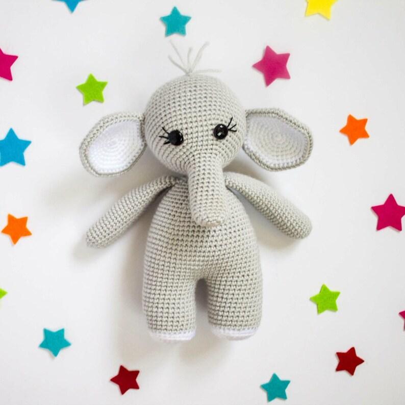Crochet Elephant Pattern Amigurumi Elephant Crochet Elephant image 0