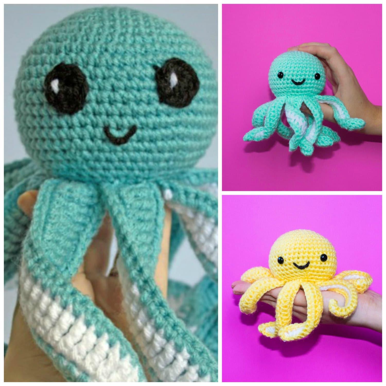 Crochet Octopus Large And Mini Combo Amigurumi Mini Octopus Etsy