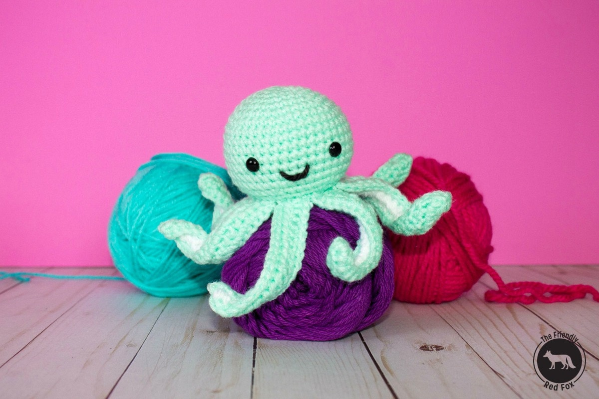 Crochet Octopus Pattern Pattern Only Amigurumi Mini Octopus Etsy