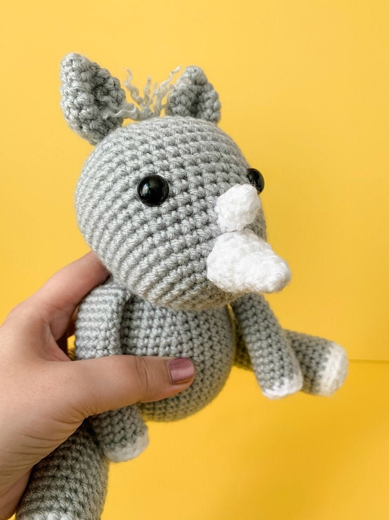 Crochet Rhino PatternFriendly Rhino Crochet Unicorn Crochet image 0