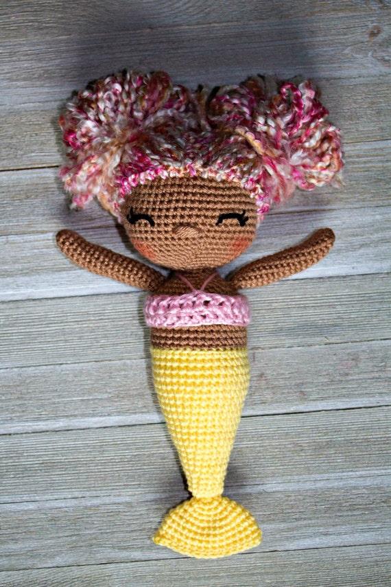 CROCHET PATTERN - Mindy the Mermaid Doll - Amigurumi   Puppe ...   855x570