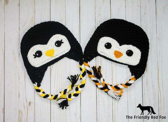 Crochet Penguin Hat Crochet Hat Pattern Penguin Penguin Etsy