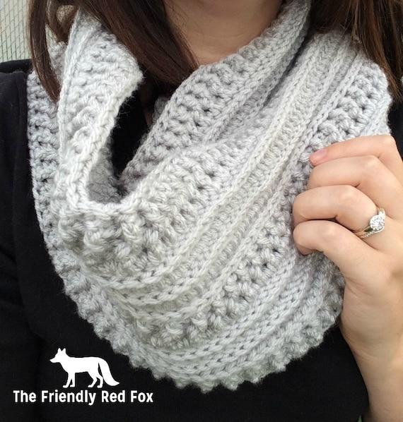 Crochet Scarf Infinity Scarf Crochet Scarf Pattern Crochet Etsy