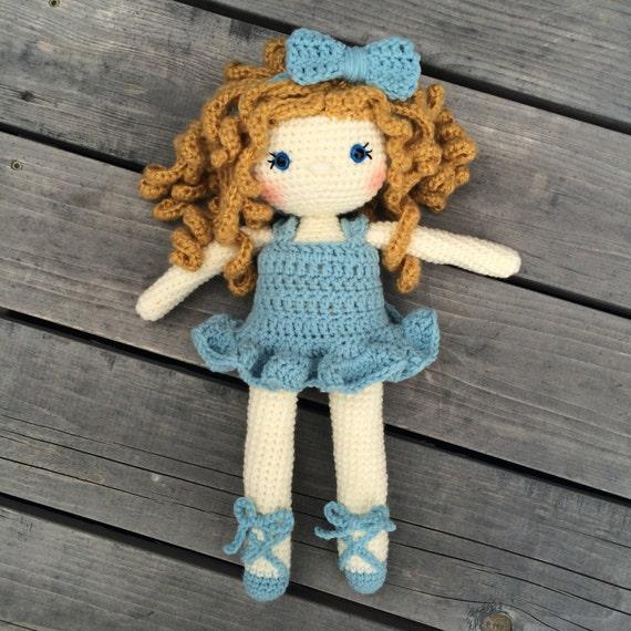 177 Crochet Pattern - Girl Doll in an Angel outfit - Amigurumi PDF ...   570x570