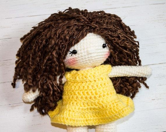 crochet pattern Nanni, pdf tutorial, amigurumi girl by doll file ...   456x570