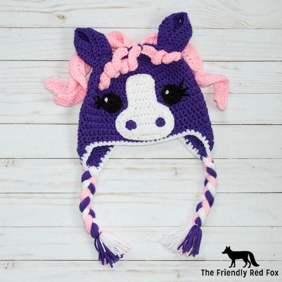 Crochet Little Pony Hat Crochet Hat Pattern Little Pony | Etsy