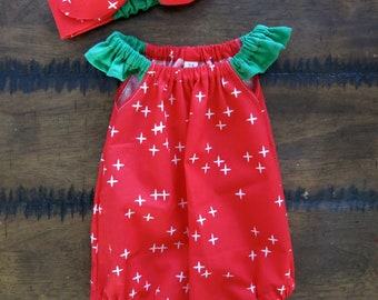 d4fed5f1bde Christmas romper   Organic baby clothes   Baby girl Christmas   Christmas  baby romper   Baby girl clothes   Christmas outfit Xmas baby