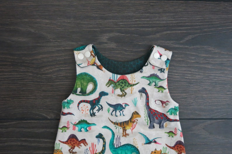 Baby harem romper  organic baby clothes  Dinosaur baby romper  Dinosaur outfit   unisex romper  baby shower gift  gender neutral baby