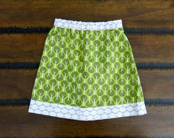 Organic Girls skirt / Organic Girls clothes / Girl clothes / Girl A-line skirt / Girls summer clothes /  Organic cotton girls skirt
