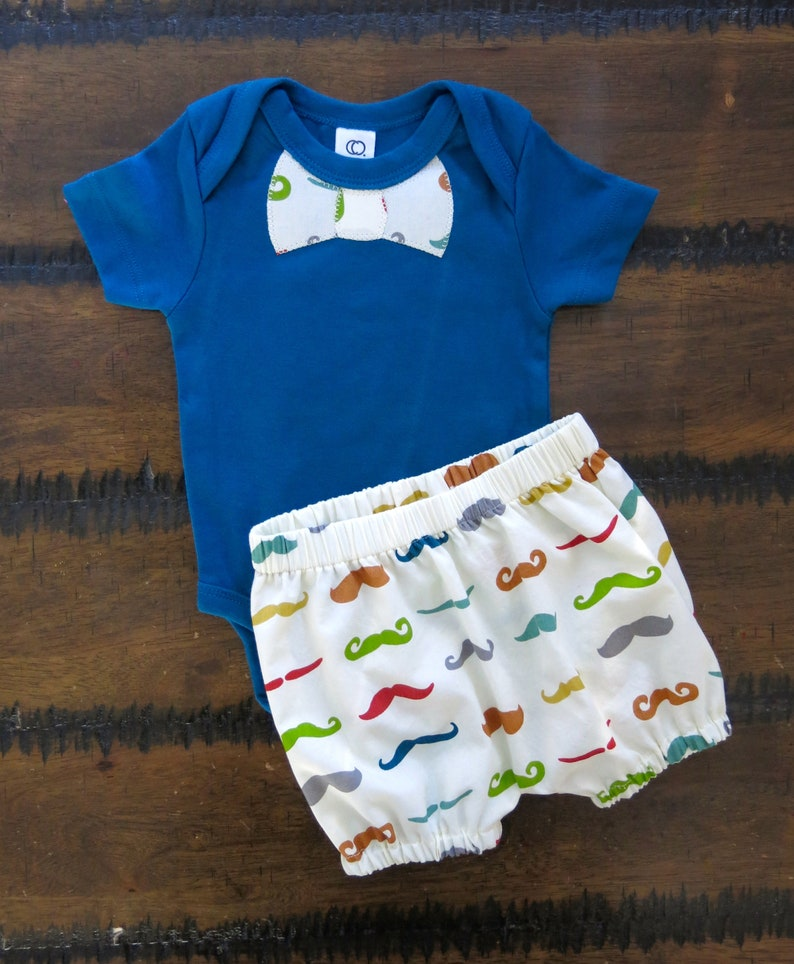 f04d8830fbd06 Baby boy clothes organic boy clothes Boy Moustache outfit /   Etsy