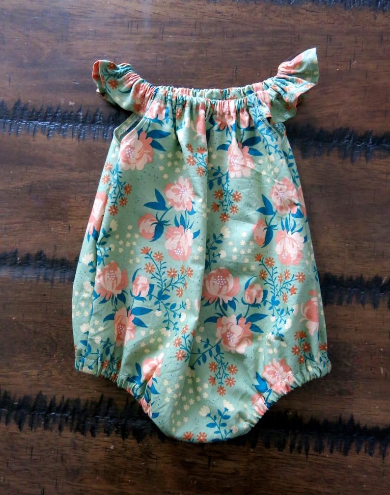 b9c271b217ea4 Floral baby romper/ Organic baby clothes / Vintage baby romper | Etsy