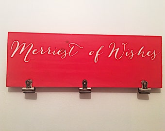 Merriest of Wishes card holder