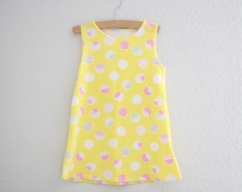 Mellow Yellow Girls Dress, Tunic Tank Dress, Baby Tank Dress, Girl Tank, Summer Dress, Baby Dress, Girls Dress, Black Dress, Birthday Dress