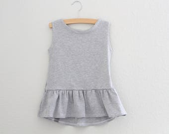 Girls Peplum Ruffle Tank, Ruffle Peplum, Summer tank, Girls Clothing, Baby Clothing, kids shirt, Ruffle Tee, Kids Apparel & Baby Apparel