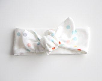Organic Confetti Knot Headband, Head Wrap, Turban, Baby Headband, Toddler Headband, Kids Headband, Hair Accessory