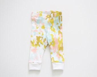 Organic Leggings, Baby Leggings, Pink Camo pants, Girl Leggings, Baby pants, cuff leggings, Toddler Leggings, Kids Leggings, Kids Apparel