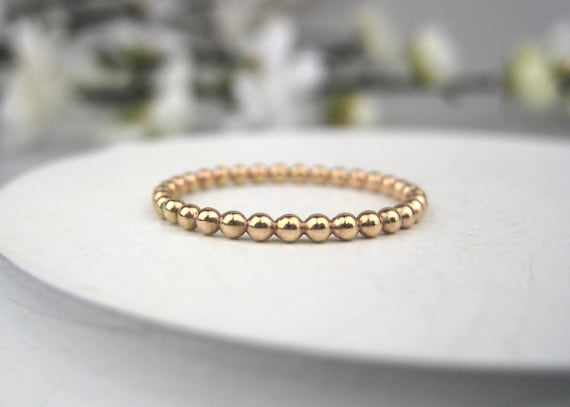 Simple Dottie Ring 14k Gold Filled Full Bead Eternity Ring Bubble Ring 1.5mm Dot Ring Gold Filled Stackable Ring Bauble Ring