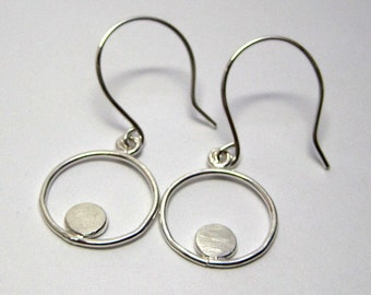 Sterling Silver Forged Pebble Dangle Earrings - Made to Order