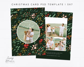 christmas card template for photographers editable christmas etsy