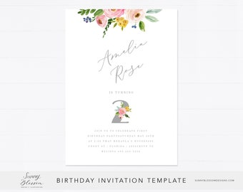 Editable Wild One 1st Birthday Invitation Card Gold Wild One Etsy
