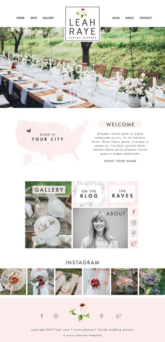 Wix Website Design Template Wedding Planner
