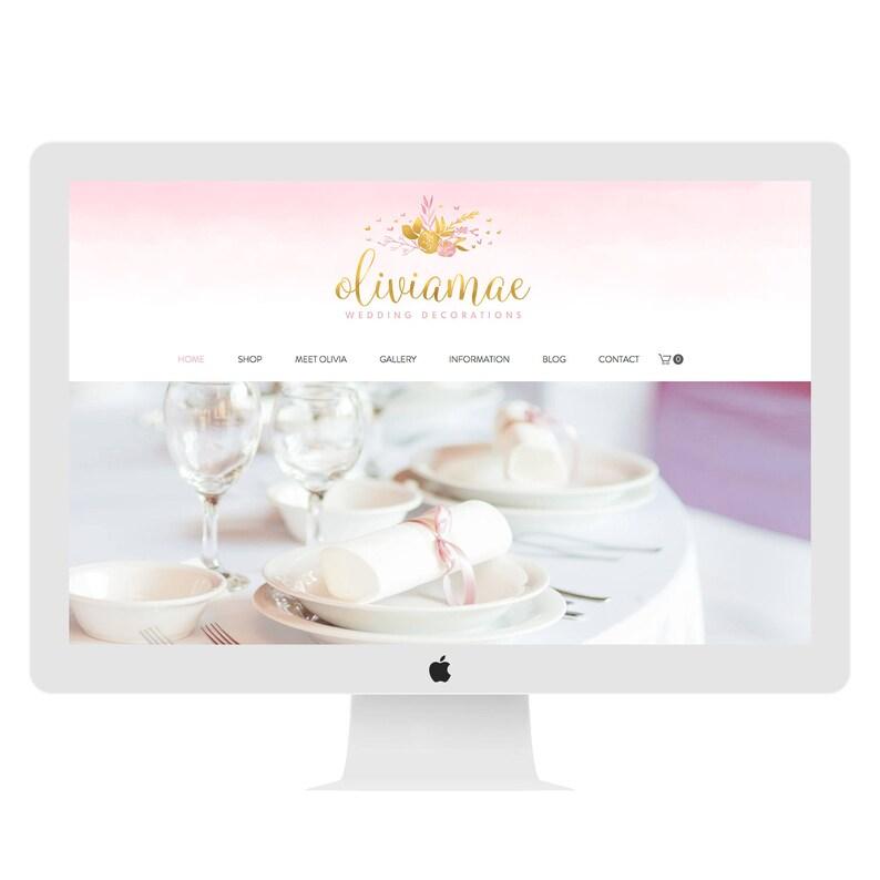 Wix Website Design Wedding Boutique Ecommerce Cart Shopping Cart Pink Crafts Wedding Decorations Online Shop E1435