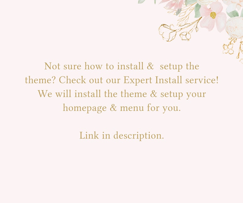 Feminine Shopify Theme Pretty Shopify Theme Shopify Themes Boutique Website e-Commerce Feminine Website Template Shopify Templates