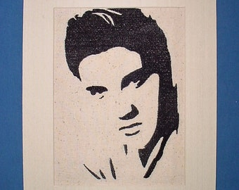 Free Shipping, Elvis Presley, silhouette, wall art, decor, picture, stitched,