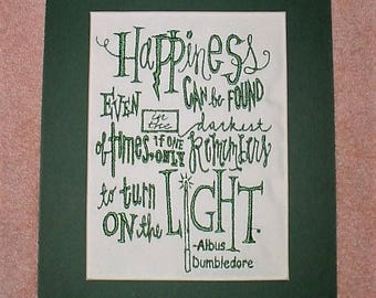 Free Shipping, Happiness quote by Albus Dumbledore from Harry Potter