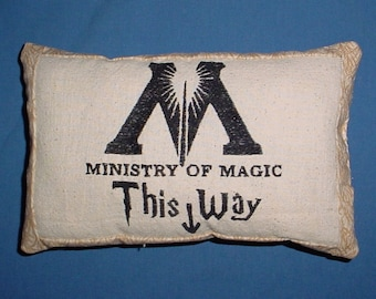 Free Shipping Ministry of Magic room decor pillow