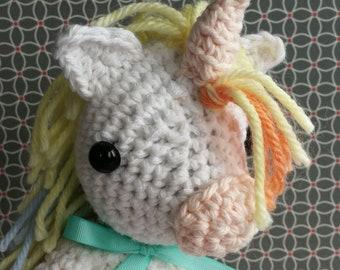 Amigurumi Crochet Pattern - Unicorn