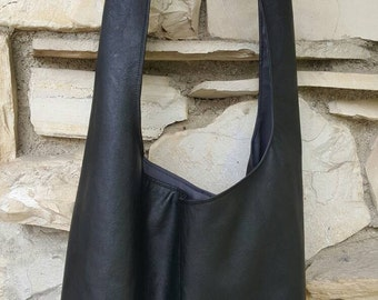 Soft bonded leather across the body hobo bag dff4b910d3d92