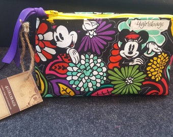 931a1caabe Tropical print Mickey and Minnie mouse cosmetic bag