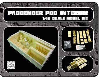 """Space1999 eagle transporter passenger pod interior for the 22"""" round 2 model kit science fiction prop fathers day gift"""