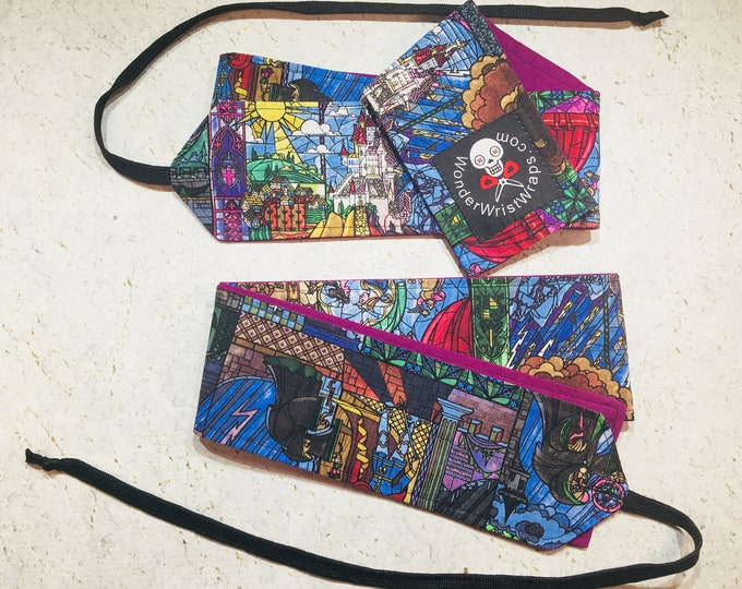 Beauty and the Beast, Stained Glass,  Wrist Wraps, WOD, Weightlifting, Athletic