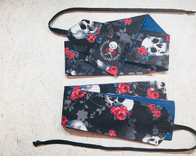 Skulls & Roses, Wrist Wraps, Wrist Wrap, WOD, Weightlifting, Athletic
