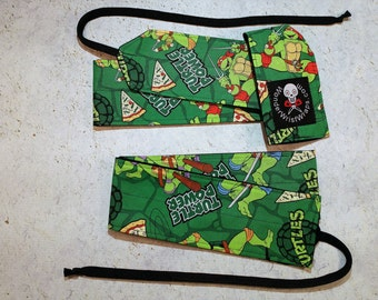 Ninja Turtle, Pizza, Wrist Wraps, WOD, Weightlifting, Athletic
