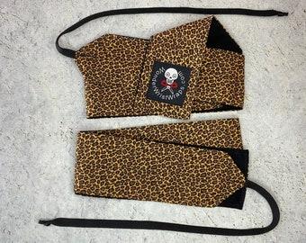 Leopard Print, Jaguar Wrist Wraps, WOD, Weightlifting, Athletic