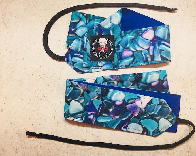 Sea Ocean Glass, Wrist Wrap, WOD, Weightlifting, Athletic