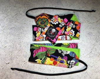 Dia de los Muertos & Green, Day of the Dead, Wrist Wraps, Wrist Wrap, WOD, Weightlifting, Athletic