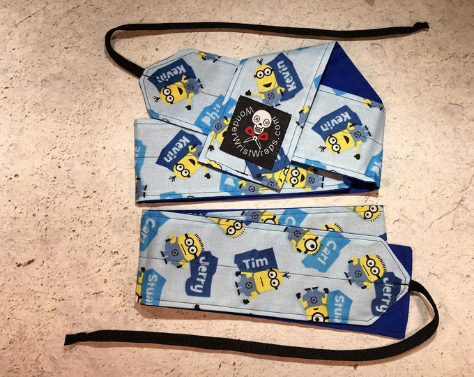 Minion with Names, Wrist Wraps, WOD, Weightlifting, Athletic